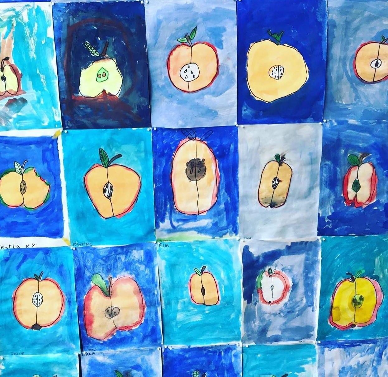 Malerier af æbler